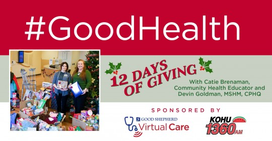 12 Days Of Giving with Catie Brenaman, Community Health Educator and Devin Goldman, MSHM, CPHQ