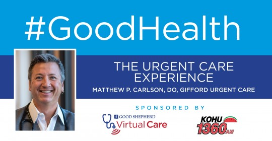 The Urgent Care Experience with Dr. Matthew P. Carlson