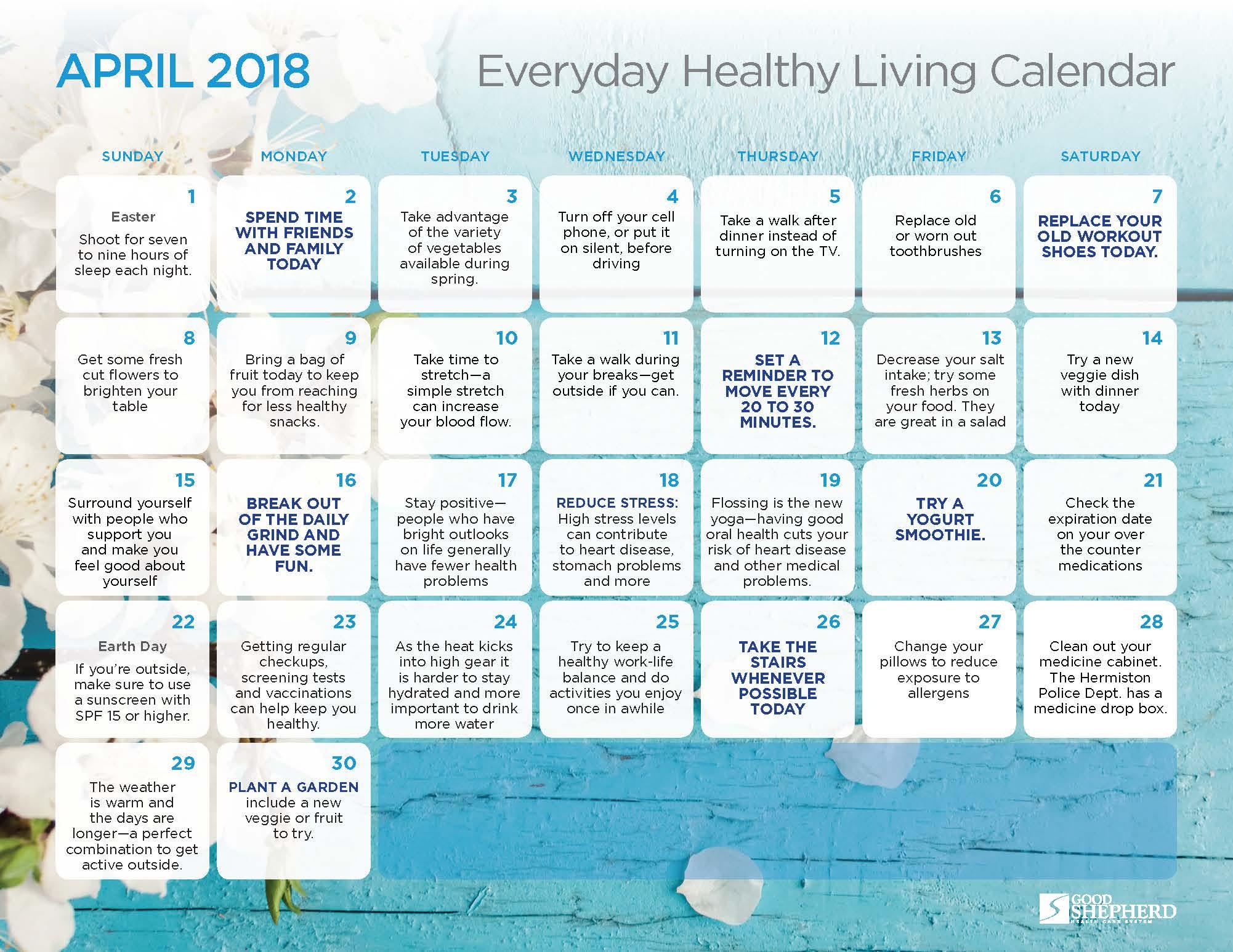 GSH309 Calendar April18